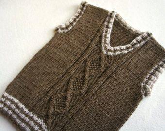 Niños punto lana chaleco chaleco de niño de punto por KsyuKnitting