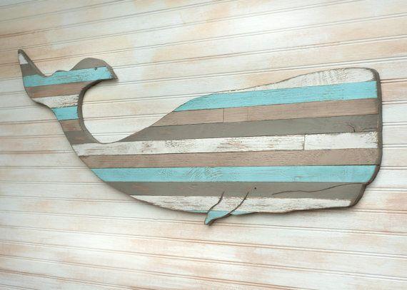 Palette de baleine en bois Art nautique maison Decor