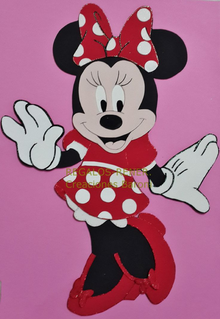 Foami minnie minnie en goma eva 55 cm wall birthday decorations medallions pinterest - Minni et mickey ...
