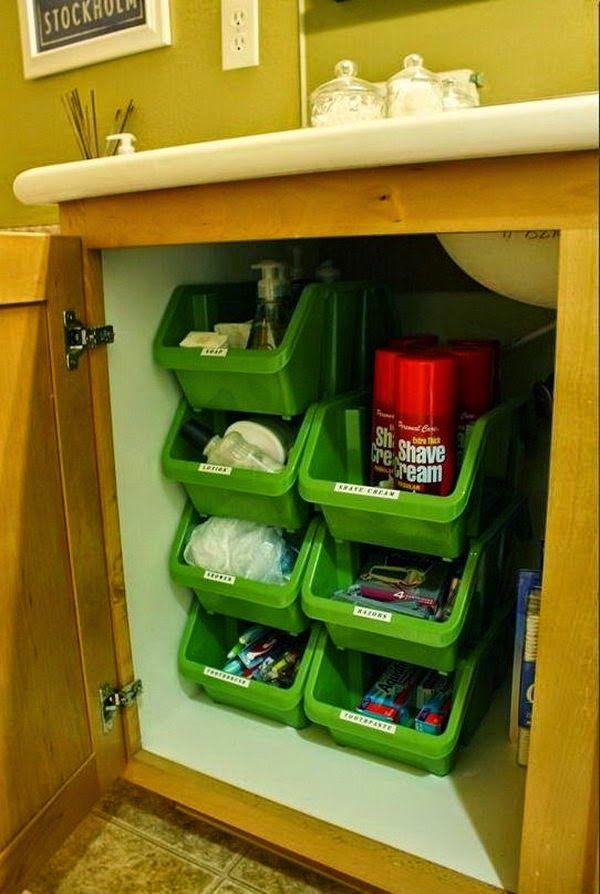 24 Δημιουργικές ιδέες αποθήκευσης και οργάνωσης κάτω από το νεροχύτη | Φτιάξτο μόνος σου - Κατασκευές DIY - Do it yourself