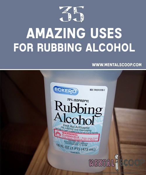 Uses for Rubbing Alcohol. Who knew that having rubbing alcohol, aka, Isopropyl alcohol stored could come in so handy.