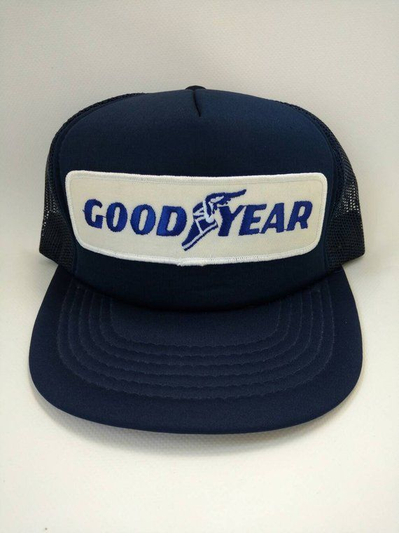 539046ee Goodyear Trucker Hat in 2019 | Products | Vintage trucker hats, Hats ...