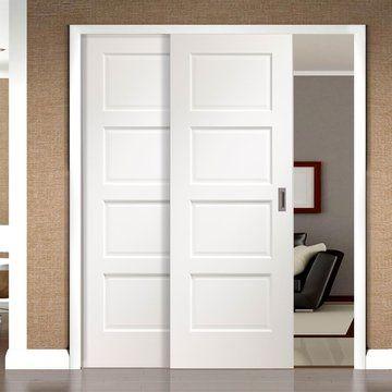 Easi-Slide White Flush - Easi-Slide White Room Divider Door System