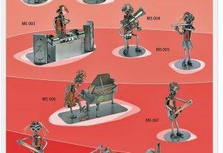 Figurki grających muzyków przedstawionych na wesoło