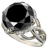 """Золотое кольцо с черным бриллиантом 15 карат GBDR4000 - купить по лучшей цене в Москве от компании """"Ювелирный магазин «Диамондо»"""" - 42440453"""