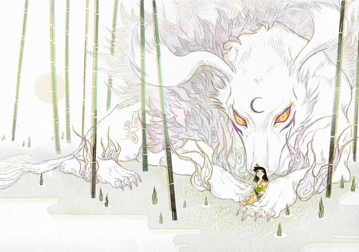 Sesshomaru and Rin fanart - InuYasha; devil form by newihsus.deviantart.com on @DeviantArt