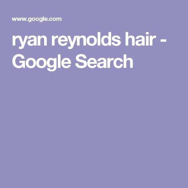 ryan reynolds hair - Google Search