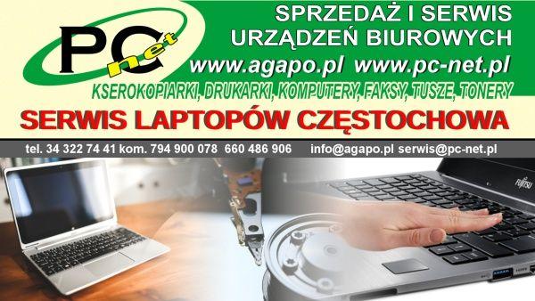 Najlepszy serwis laptopów w Częstochowie Szybka ekspertyza usterki. Błyskawiczna naprawa.  Serwisujemy urządzenia różnych producentów i marek: Asus, Acer, HP, Toshiba, Benq, Sony, Fujitsu Siemens, IBM, Dell, Lenovo, Compaq, Emachines, Gateway, NEC, Pacard, BellSamsung