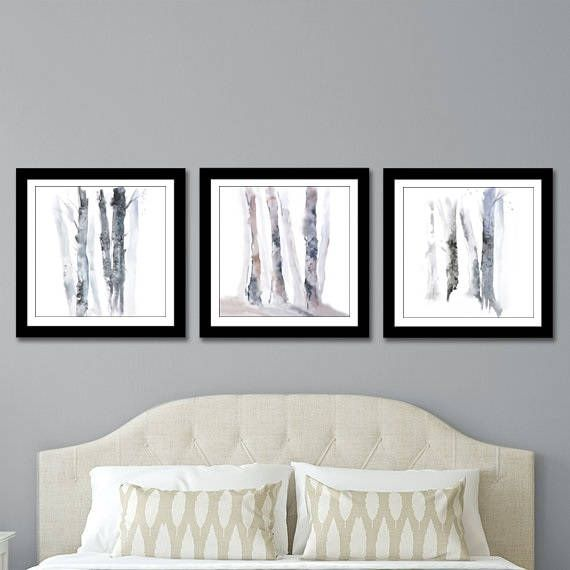 Print Set Of Three Square Prints 3 Piece Wall Art Birch Tree Etsy Wall Art Birch Trees Print Sets 3 Piece Wall Art