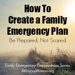 How to Create a Family Emergency Plan so that your family is prepared, not scared in the event of a crisis.