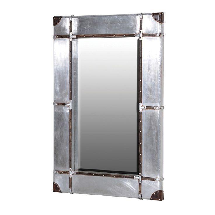 Aluminium and leather wall unit, perfect accessory to the Aluminum range £179.99