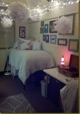 Lovely Dorm Room   Liking These Twinkle Lights Across The Ceiling. :) (without The  Big White Things) Part 23