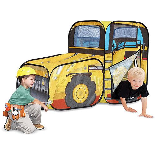 Caterpillar Construction Vehicle Tractor Cat Kids Tunnel Play Tent Collector Toy   eBay