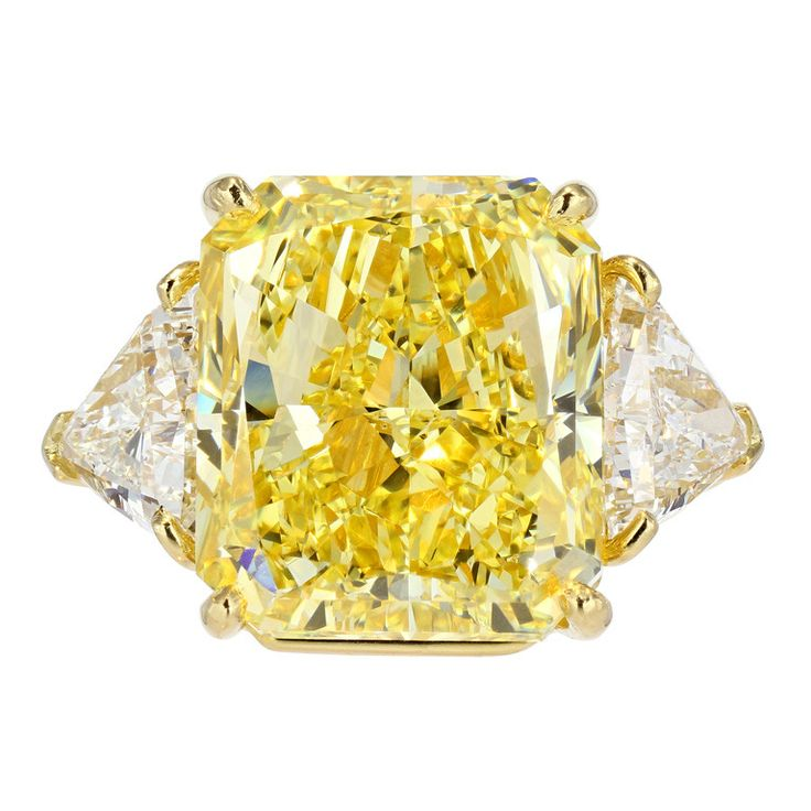 bulgari fancy intense yellow carat diamond ring from a unique collection of vintage engagement