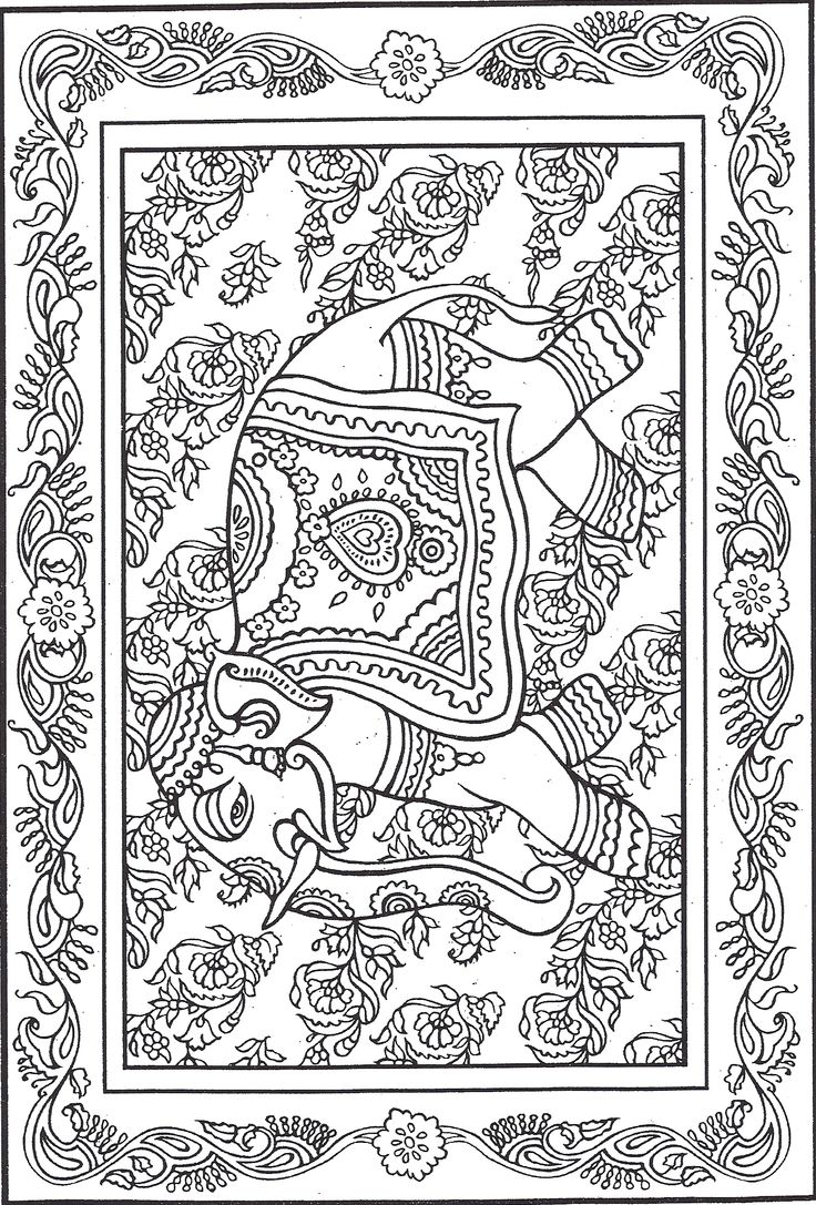 164 best elephant coloring pages for adults images on pinterest
