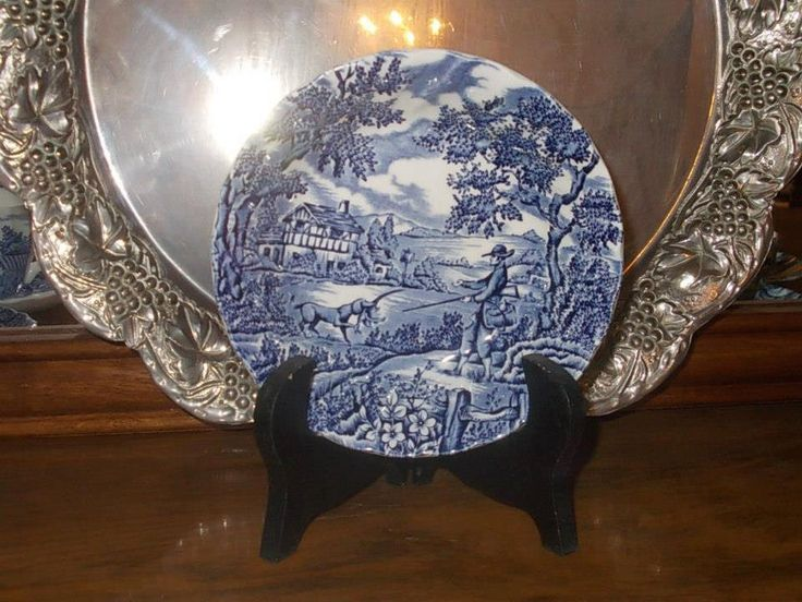 Myott porcelain plate ''THE HUNTER ''England-rare antique by StrangeAttachments on Etsy