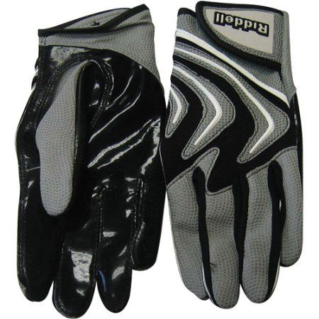 Riddell Armor Tac Speed Adult Football Glove Receiver/Running Back, Black
