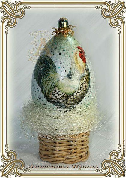 """Яйцо пасхальное-""""Петушок"""",для дома ручной работы.Антонова Ирина.Ярмарка Мастеров."""