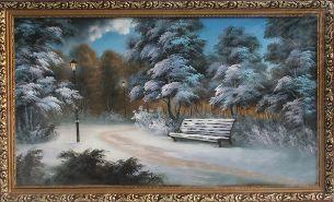 Фонари - Зимний пейзаж <- Картины маслом <- Картины - Каталог | Универсальный интернет-магазин подарков и сувениров