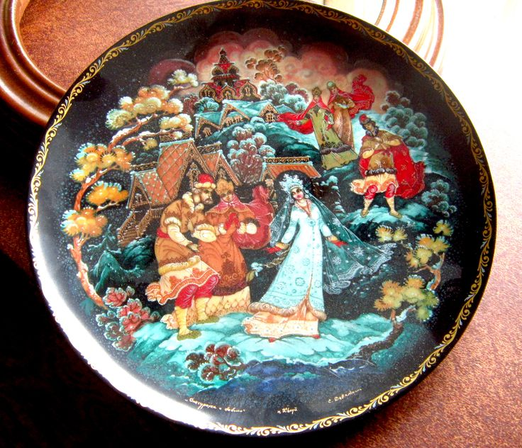 """This is the Second in the LEGEND OF THE SNOWMAIDEN Russian Fairytale Series  Bradex 60-K 24-1.2  Designed by Sergei B Devyatkin   The plates are 7 1/2"""" (19cm).  Plates can be bought individually or as a set 1-8 for a reduced price (%)."""