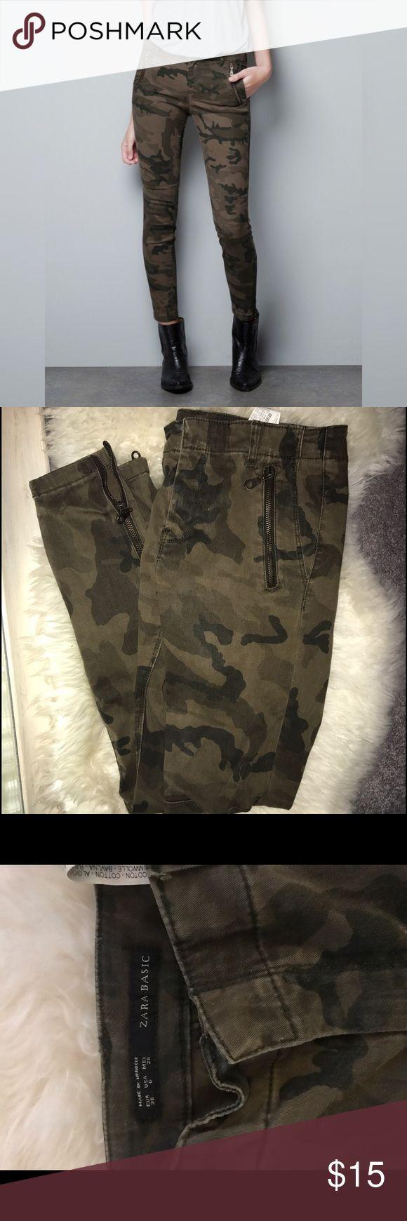 Zara Camouflage Skinny Pants Cute Skinnies from Zara. Hit and trendy in good condition. Size US 6. Zara Pants Skinny