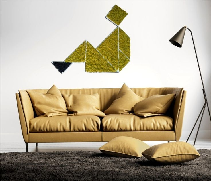 A square panel composed by seven different shapes in stabilized #moss. Have fun creating your own personal #composition: http://ift.tt/2dKsE5E   #linfadecor #tangram #home #decoration #interior #design #colors #decoration #stabilizedplants #greenwall #man #coach #decorazione #handmade #plants