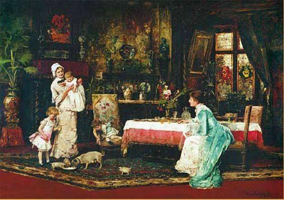 Munkácsy Mihály (1844-1900) - A két család II. kép