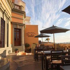 Dine alfresco at Lucila's Restaurant for the best sunset views for your next romantic date!   Lucila's Restaurant inside Casa Lucila Hotel Boutique Mazatlan, Mexico