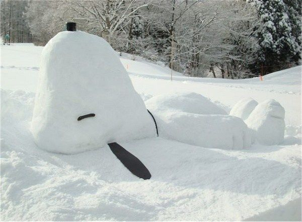 Better than a snowman, he's a Snowpy :-)...oooo this is so happening this year!