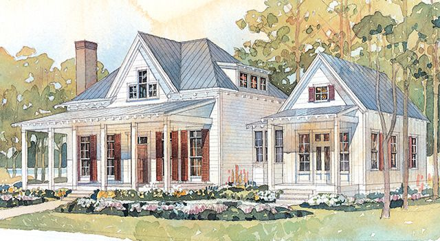 I love this house plan found it in my latest issue of for House plans with guest houses southern living