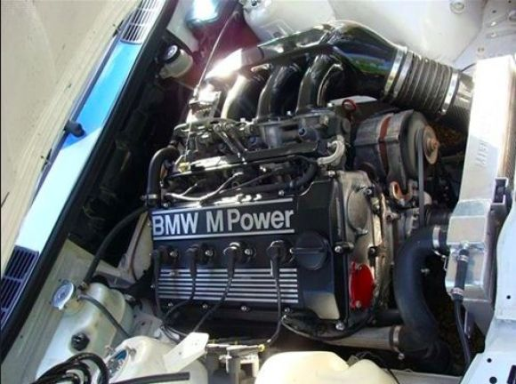 1988 BMW E30 M3 in DTM-style setup (not an original factory DTM) - 275hp Engine.. The factory DTM has the 360hp 2.5-liter S14 engine.