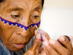 Maquillaje Nativo americano