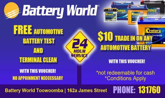 Battery World Toowoomba Special
