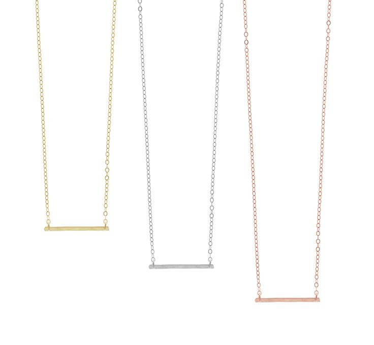 Ruby Mini Bar Necklace- Gold, Silver, Rose Gold