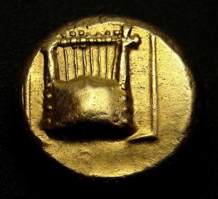 Finally a gorgeous very rare Gold coin with the instrument of LYRE & MUSE. AU.XF