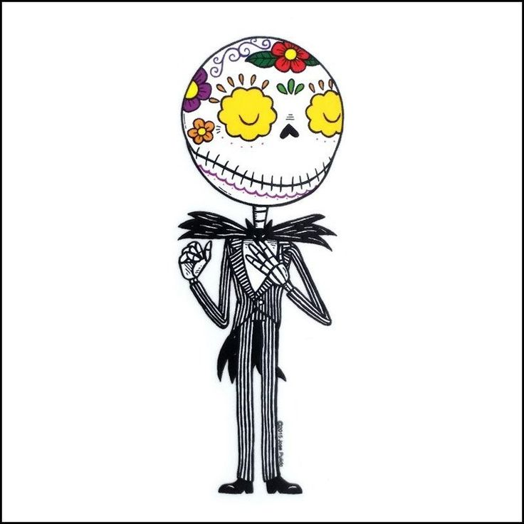 Nightmare Before Christmas - Jack Skellington Day of the Dead Sticker