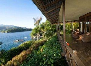 Lembeh Resort has stunning views over Lembeh Strait.