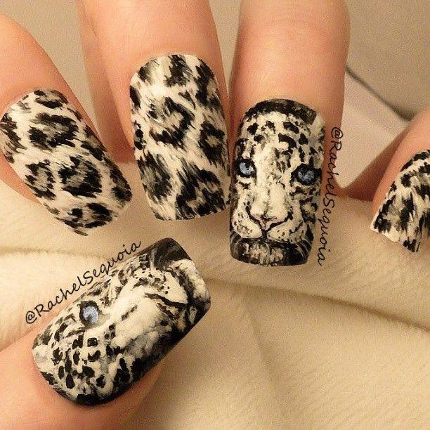 Diy Snow Leopard Nail Art: 1000+ Ideas About Tiger Nails On Pinterest
