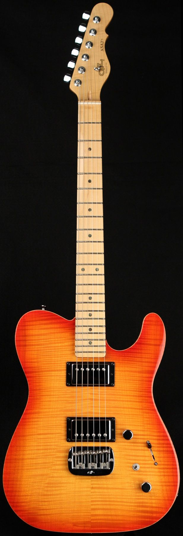 G&L Guitars ASAT® Deluxe, Old School G&L Tobacco Sunburst over Korina