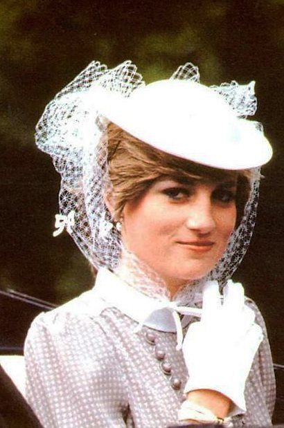 Lady Diana Spencer in a John Boyd hat at Ascot, June 19, 1981 www.johnboydhats.co.uk