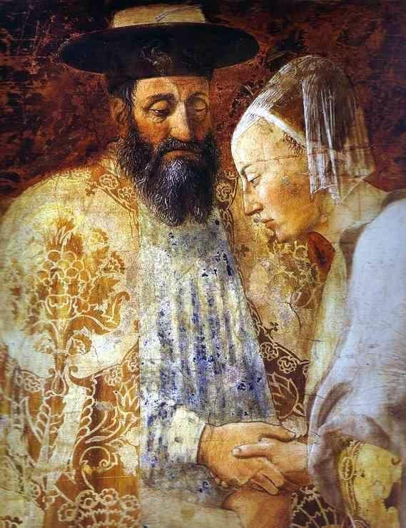 «Встреча Соломона и царицы Савской». Фреска Пьеро делла Франческа, Базилика Сан-Франческо в Ареццо.