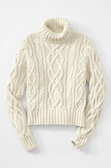 Lands' End Women's Long Sleeve Drifter Turtleneck Sweater - Fall trends