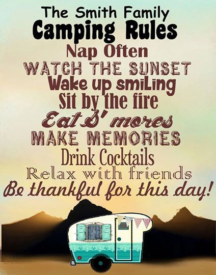 Personalized Camping Rules Sign, Camping Decor, 5th Wheel, Travel Trailer, RV, Tear Drop, Pop-Up, Motor Home, Tent, Happy Campers, Glamper