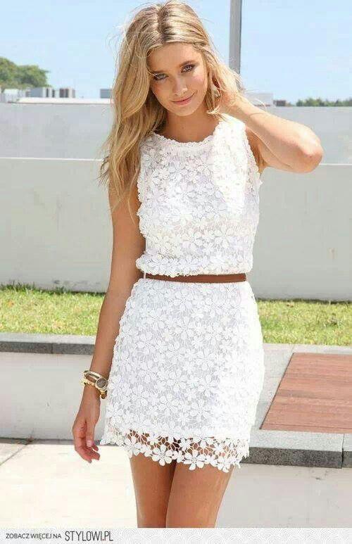 Nice white dress. Classy