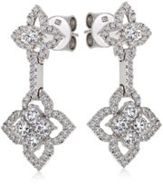 18ct White Gold Lotus Diamond Earrings set with 1.20ct Diamonds from Hardy Brothers Jewellers.