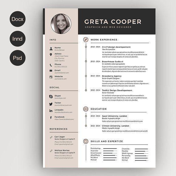Clean Cv Resume Ii Creative Cv Template Creative Cv Creative Resume Templates