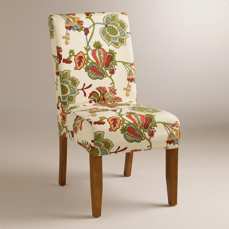 Offers A Colorful Style Update To Our Anna Slipcover Chair Mix And Match It With Solid Slipcovers Personalize The Look Of Your Dining Room