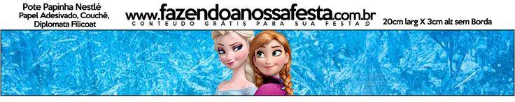 Rótulo Pote Papinha Frozen Disney - Uma Aventura Congelante: http://fazendoanossafesta.com.br/2014/01/frozendisney-umaaventuracongelante.html/frozen-disney-uma-aventura-congelante-44/#main   20cmx3cm