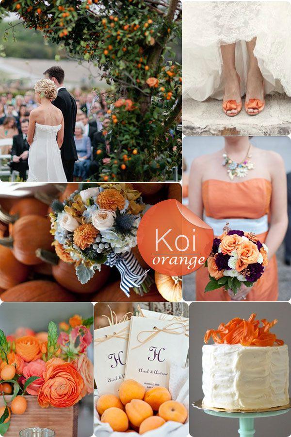 décoration mariage d'automne - orange                              …