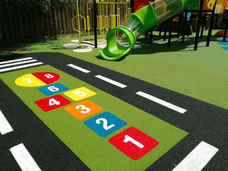 Gra w klasy na nawierzchni placu zabaw safeplay